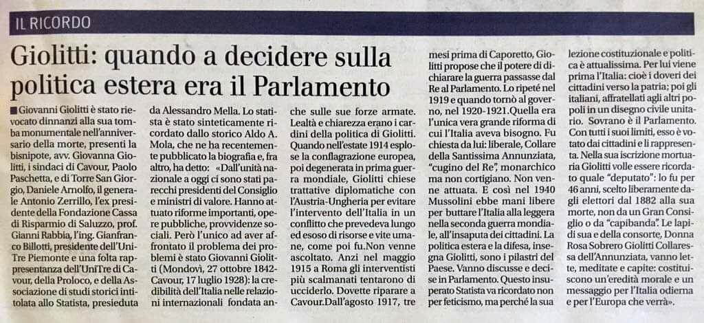 IL GIORNALE DEL PIEMONTE, 18/07/2019 pag. 3