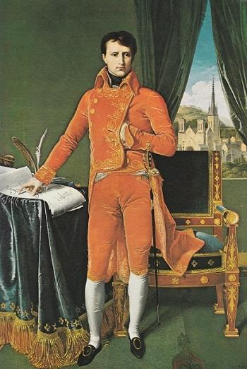 Napoleone Primo Console: le dita a compasso del Legislatore, un messaggio cifrato verso l'Impero del Sole (Dipinto di Jean Auguste Ingres).