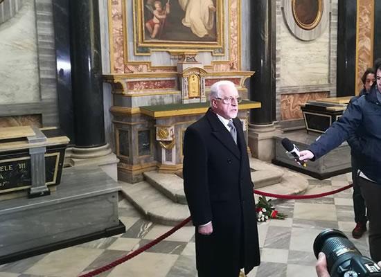 Il Presidente della Consulta dei Senatori del Regno Aldo A. Mola a Vicoforte