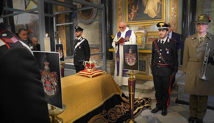 Vicoforte, l'arrivo della salma del Re Vittorio Emanuele III