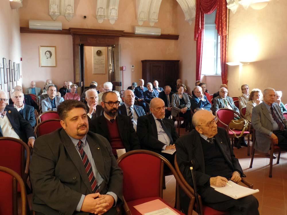 in prima fila Alessandro Mella e Nerio Nesi seguono il convegno