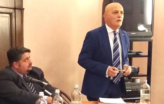 Archivio, foto del 2018 con Antonio Zerrillo e Alessandro Mella ad un convegno della ASSGG