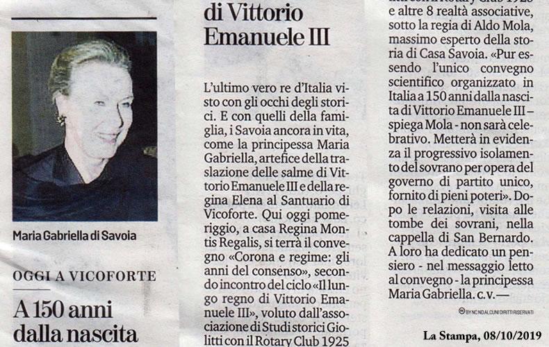 La Stampa, 08 Ottobre 2019