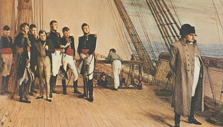 """Grandezza e solitudine del Genio del Mondo: Napoleone sul """"Bellorophon"""", prigioniero del Mito molto più che degli inglesi."""